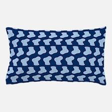Blue Cute Little baby Socks Pattern Pillow Case