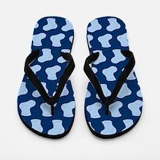 Blue Cute Little baby Socks Pattern Flip Flops