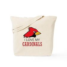 LOVE MY CARDINALS Tote Bag