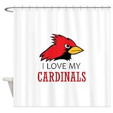 LOVE MY CARDINALS Shower Curtain