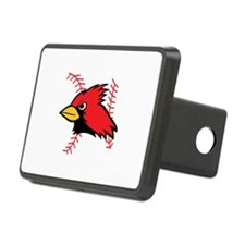 CARDINAL AND BASEBALL LACES Hitch Cover