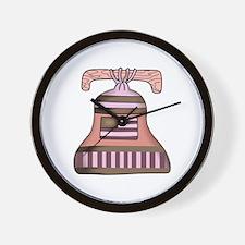 AMERICANA LIBERTY BELL Wall Clock