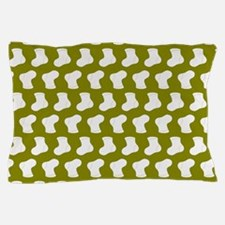 Olive and White Cute Little baby Socks Pillow Case