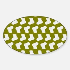 Olive and White Cute Little baby So Sticker (Oval)