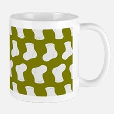 Olive and White Cute Little baby Socks Mug