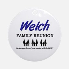 Welch Family Reunion Ornament (Round)