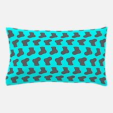 Aqua and Gray Cute Little baby Socks P Pillow Case