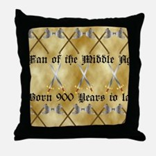 Medieval Fan Throw Pillow