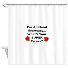 I secretary.png Shower Curtain