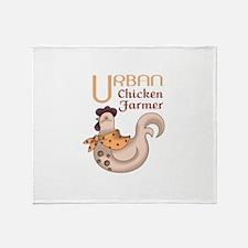 URBAN CHICKEN FARMER Throw Blanket