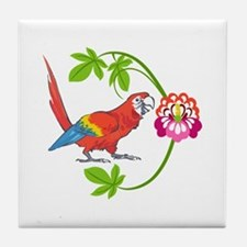 TROPICAL MACAW Tile Coaster