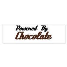 Powered by Chocolate Bumper Bumper Sticker