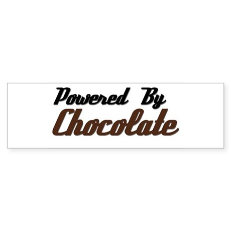 Powered by Chocolate Bumper Sticker