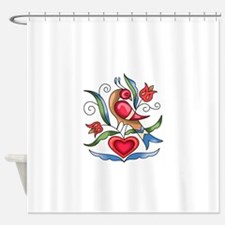 PENN DUTCH BIRD Shower Curtain