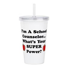 I teach counselor.png Acrylic Double-wall Tumbler