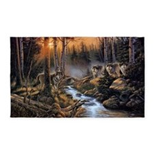 Forest Wolves Area Rug