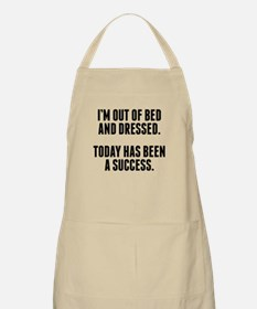 Dressed And Out Of Bed Apron