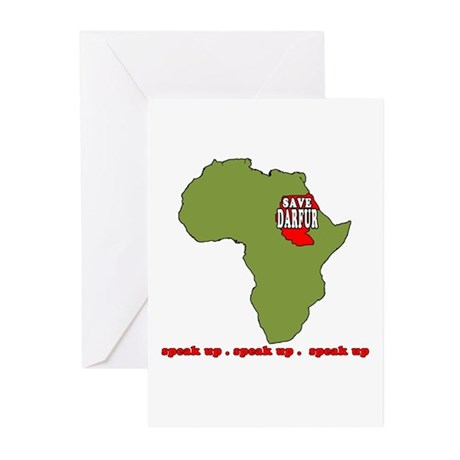 Speak Up to Save Darfur Greeting Cards (Package of