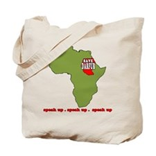 Speak Up to Save Darfur Tote Bag