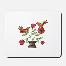 TAPESTRY BIRDS ON FLOWERS Mousepad