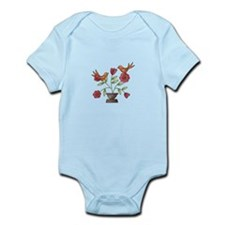 TAPESTRY BIRDS ON FLOWERS Body Suit