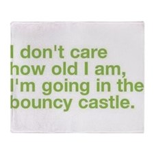 bouncy castle Throw Blanket