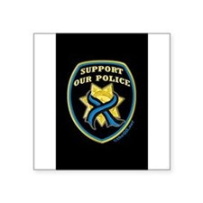 "Fallen officers Square Sticker 3"" x 3"""