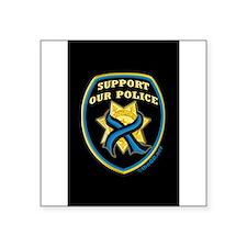 "Cool Police 1 Square Sticker 3"" x 3"""