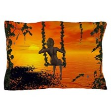 Swings in the sunset Pillow Case