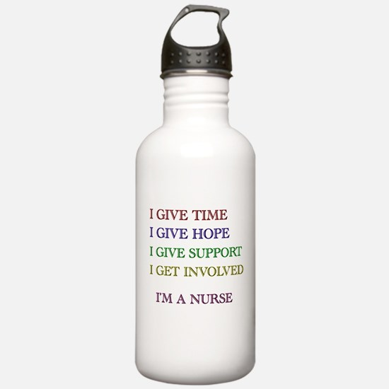I GIVE TIME copy.jpg Water Bottle
