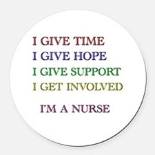 I GIVE TIME copy.jpg Round Car Magnet