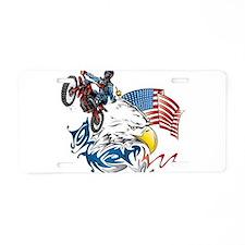 Patriotic Dirtbiker USA Aluminum License Plate