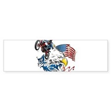 Patriotic Dirtbiker USA Bumper Bumper Sticker