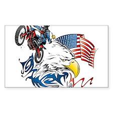 Patriotic Dirtbiker USA Decal