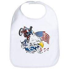 Patriotic Dirtbiker USA Bib