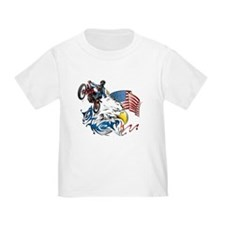Patriotic Dirtbiker USA T-Shirt