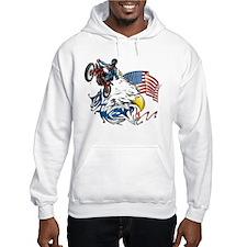 Patriotic Dirtbiker USA Hoodie
