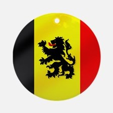 Belgian Lion Flag Ornament (Round)