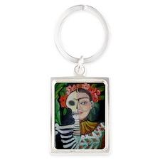 Frida Muerta by RuthO Portrait Keychain