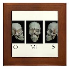 OMFS surgery skull Framed Tile