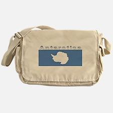 Antarctic flag Messenger Bag