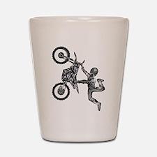 dirt-biker-motocross-freestyle-fly-grey Shot Glass