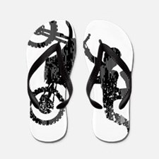 Freestyle Motocross Grunge Flip Flops