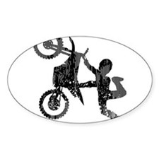 Freestyle Motocross Grunge Decal