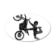 Freestyle Motocross Grunge Wall Decal