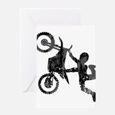 Freestyle Motocross Grunge Greeting Cards