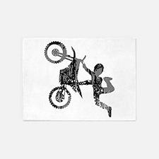 Freestyle Motocross Grunge 5'x7'Area Rug