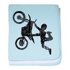 Freestyle Motocross Grunge baby blanket