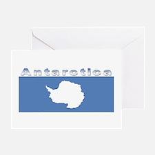 Antarctic flag Greeting Card