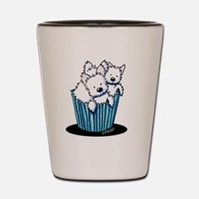 KiniArt Westie Pupcakes Shot Glass